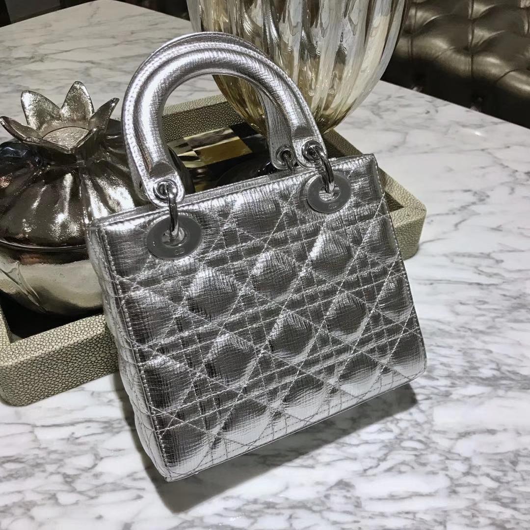 Dior 迪奥 四格戴妃包 金银扣 进口小羊皮 意大利原厂皮料