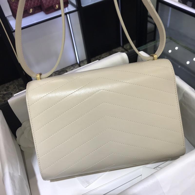 Chanel 新款 2018巴黎汉堡系列 进口牛皮 斜跨包 中号16x7x23cm 奶白色 现货