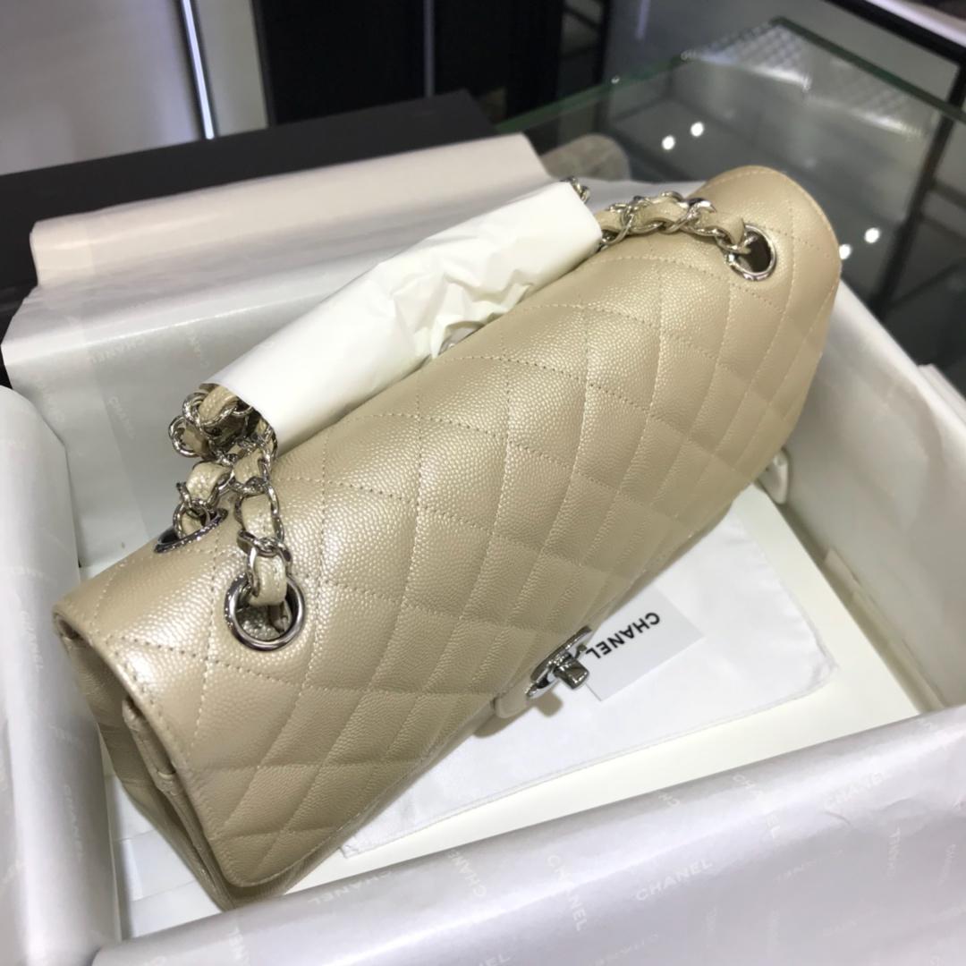 CF 小香 最经典系列 小鱼子酱 香槟金色配上银色五金 中号25cm 现货