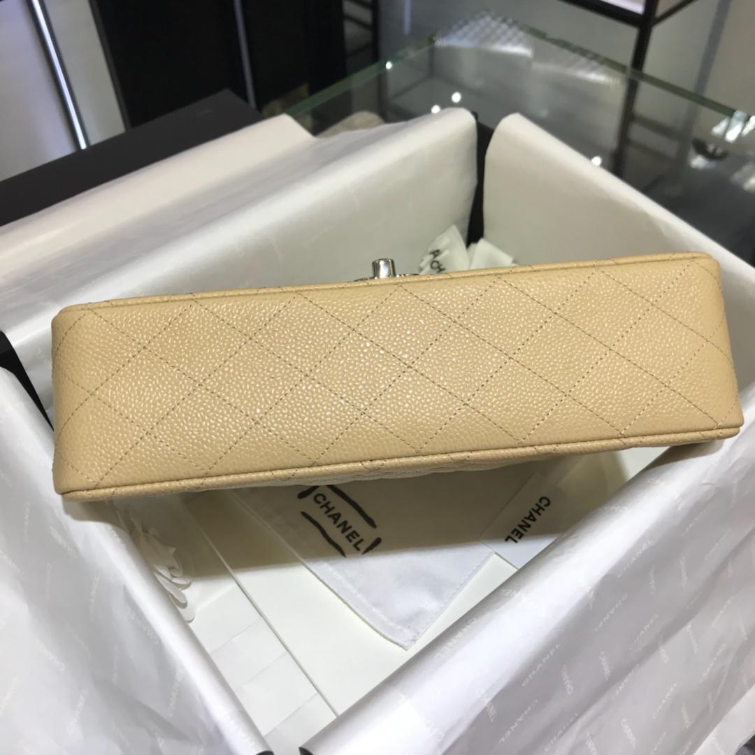 CF 小香 最经典系列 鱼子酱 杏色配上银色五金 中号25cm 现货