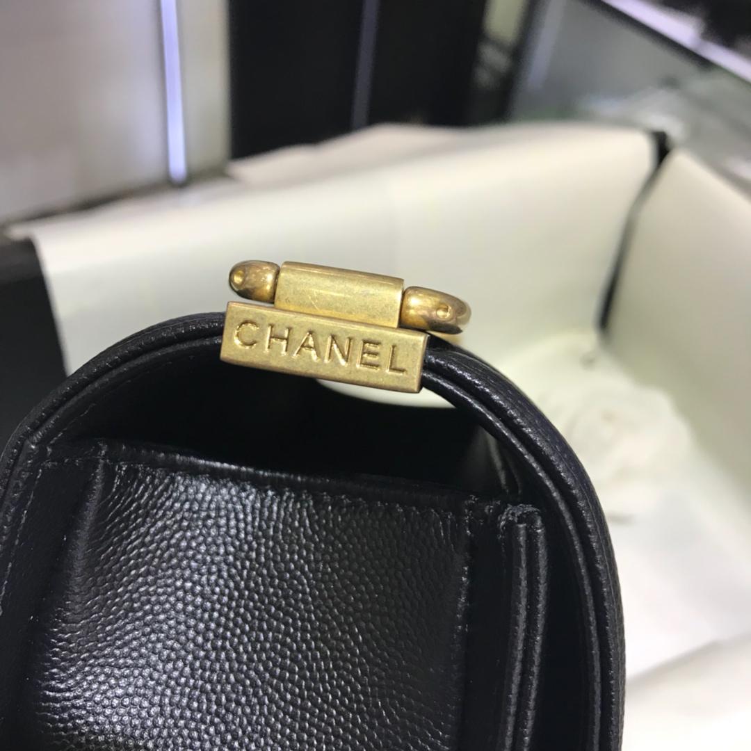 Chanel 香奈儿 Leboy Bag 小鱼子酱 黑色 20cm 流沙金 现货