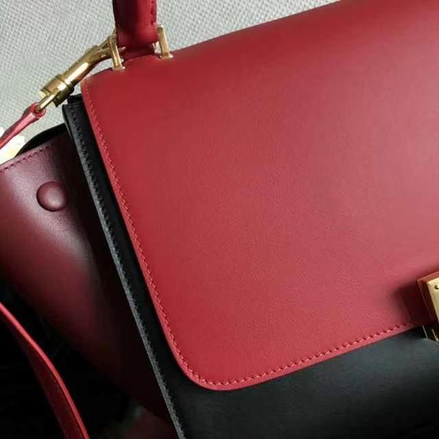 Celine 思琳 秋千包 红色拼黑色 品色实拍 zp打版 零误差 专柜品质
