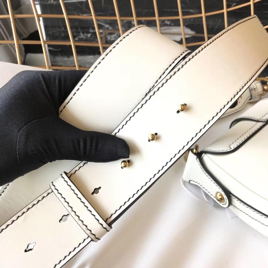 Dior 迪奥 小手提包 DIORAMA 白色 牛皮马鞍包 22.5cm