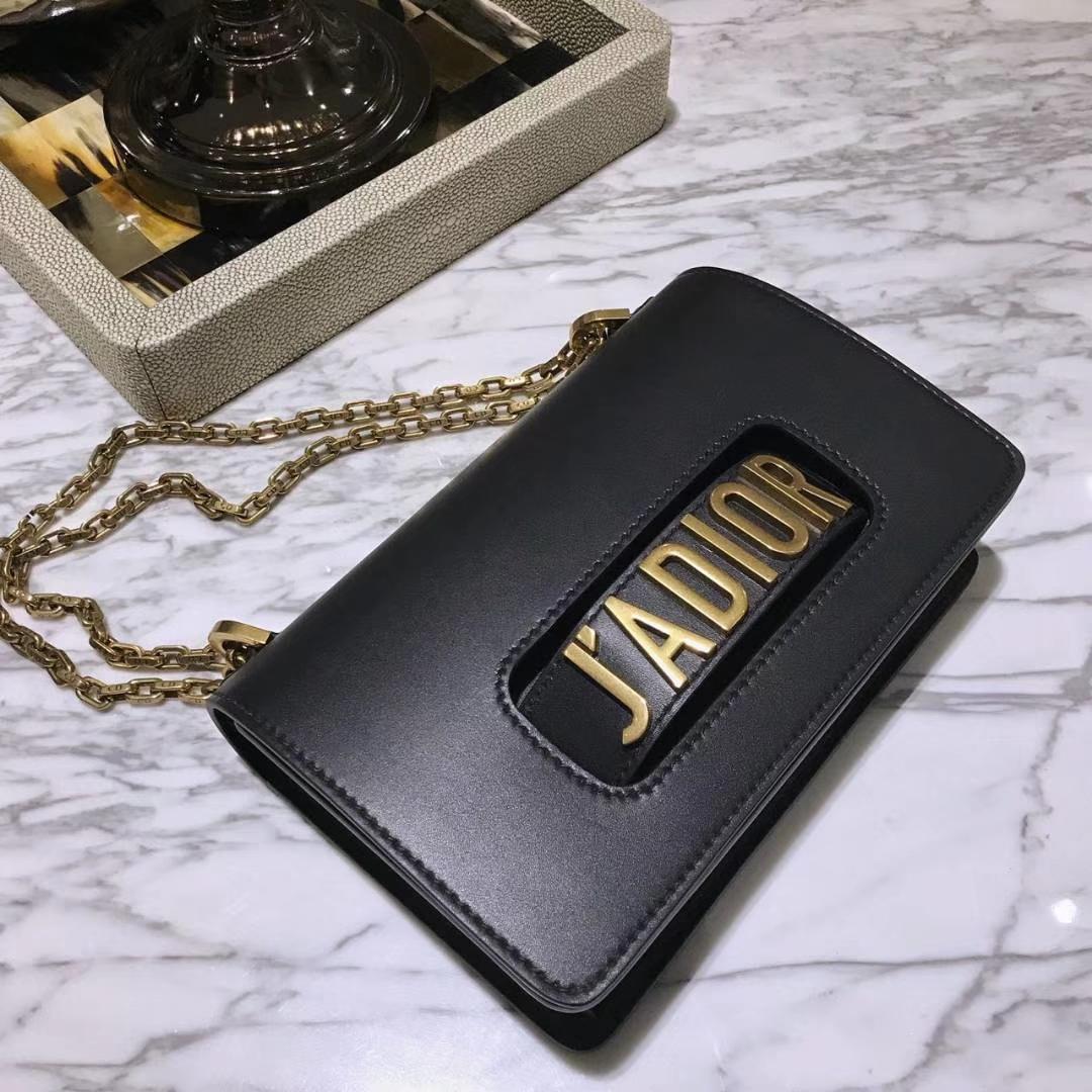 Dior 迪奥 翻盖式手提包 J'ADIOR 25cm牛皮 黑色