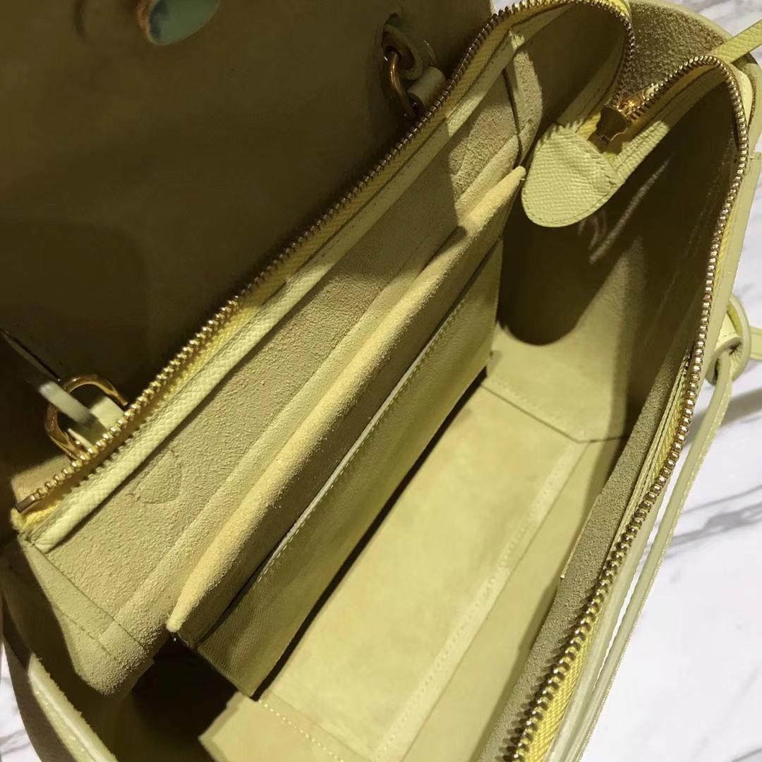 Celine 鲶鱼包 Belt Bag 23cm 柠檬黄 代购品质 欢迎下单