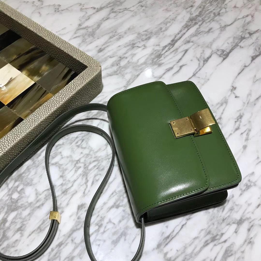 CÉLINE(赛琳)豆腐包 box小号  16cm   抹茶绿