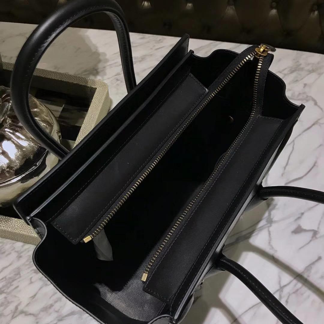 Celine 笑脸包 珍珠鱼皮 20cm/26cm 市场最高版本 支持验货 骑士黑