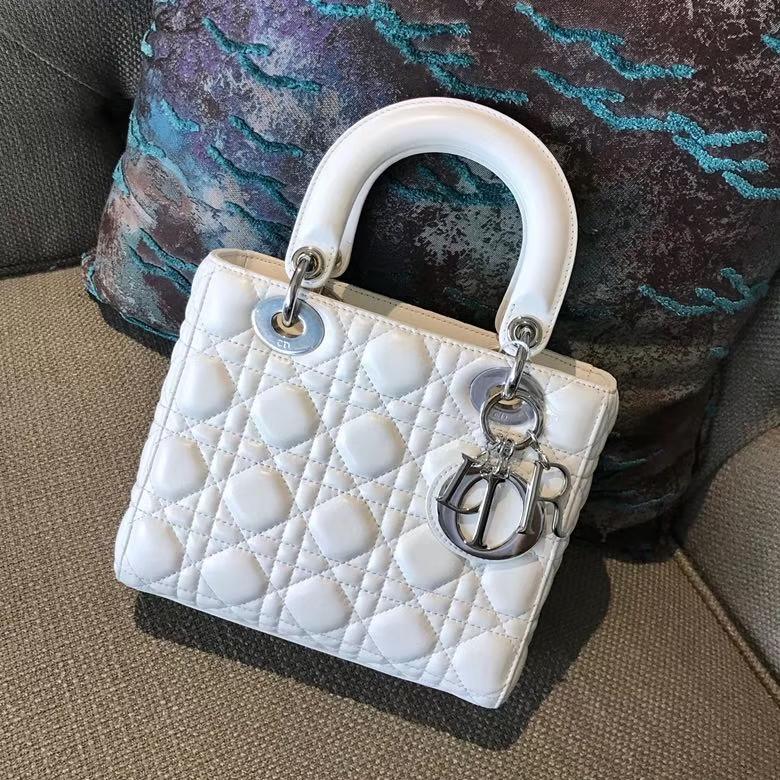 Dior 迪奥 戴妃包 Lady Dior 全新 原厂进口羊皮 白色 实拍