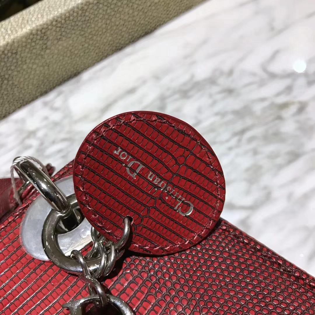 Dior 印尼进口蜥蜴戴妃 18K真金 电镀五金 对比原版