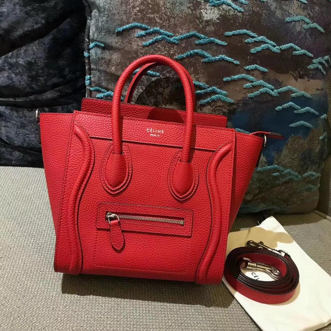 Celine思琳 20cm 原厂进口牛皮 笑脸包 专柜品质 厂家直销
