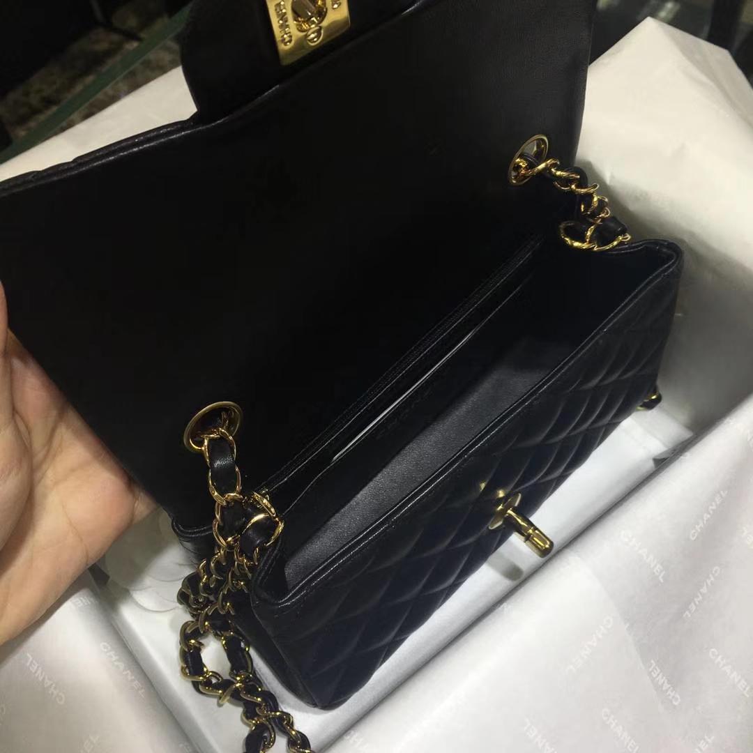 Chanel 香奈儿 Leboy 25cm 原厂皮 小鱼子酱 海军蓝 古银五金