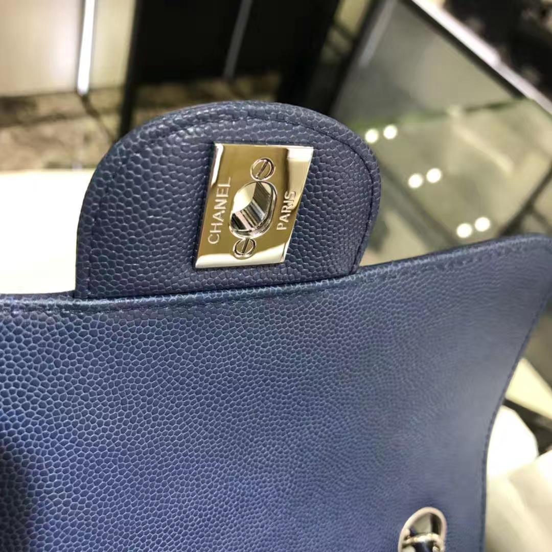 V字绣 经典系列 小鱼子酱 海蓝色 20cm 银扣