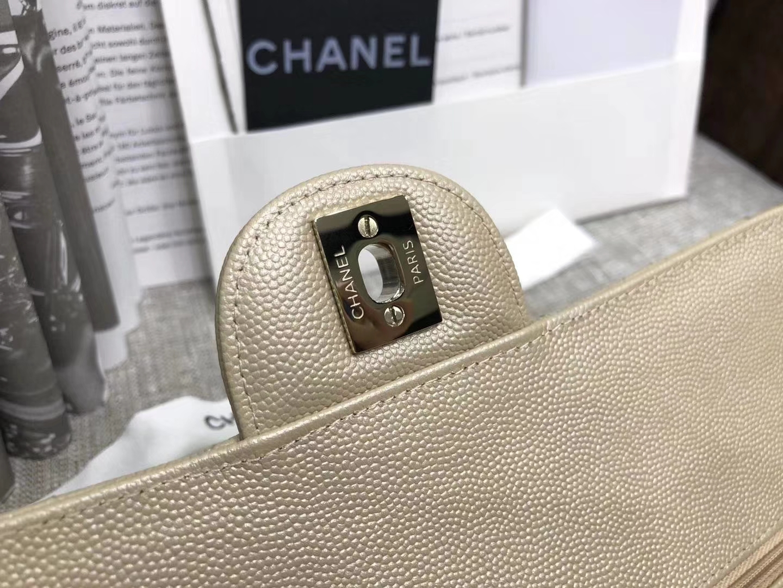 Chanel 香奈儿 cf经典系列 25cm 原厂皮小鱼子酱 金色 香槟金