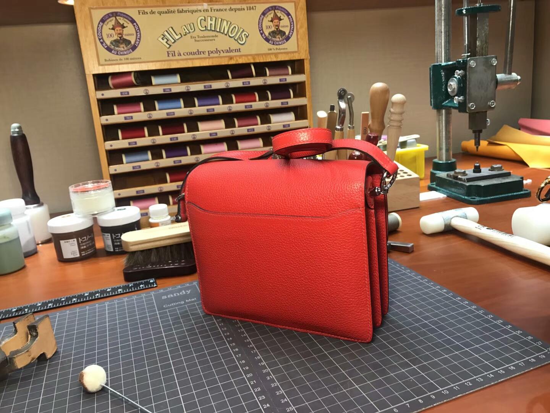 猪鼻子包 Roulis HERMES 爱马仕 s5 番茄红 rouge tomate 配全套专柜原版包装