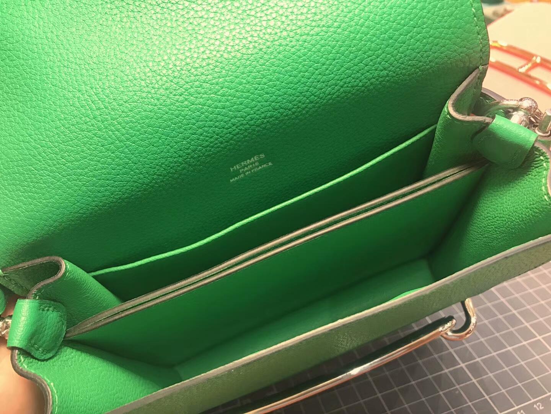 猪鼻子包 Roulis HERMES 爱马仕  竹子绿 1k bambou 配全套专柜原版包装