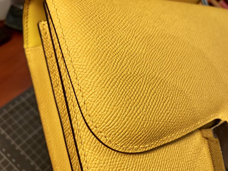 HERMES 爱马仕 空姐包 Constance 9HSoleil柠檬黄 配全套专柜原版包装