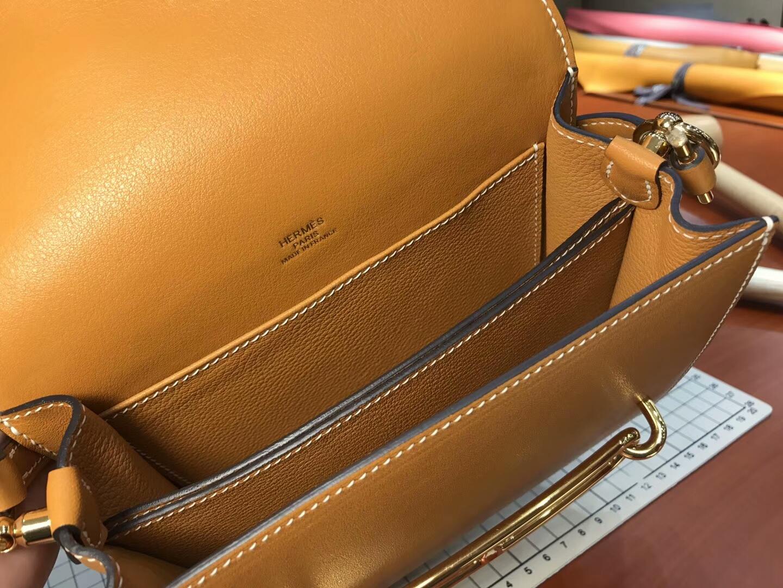猪鼻子包 Roulis HERMES 爱马仕 金棕 ck37 gold  配全套专柜原版包装