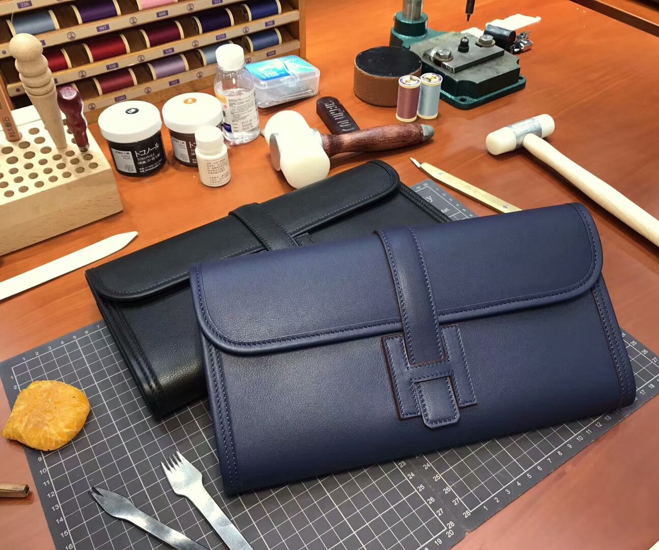 CC73 宝石蓝 Blue Saphir HERMES 爱马仕 手包 配全套专柜原版包装