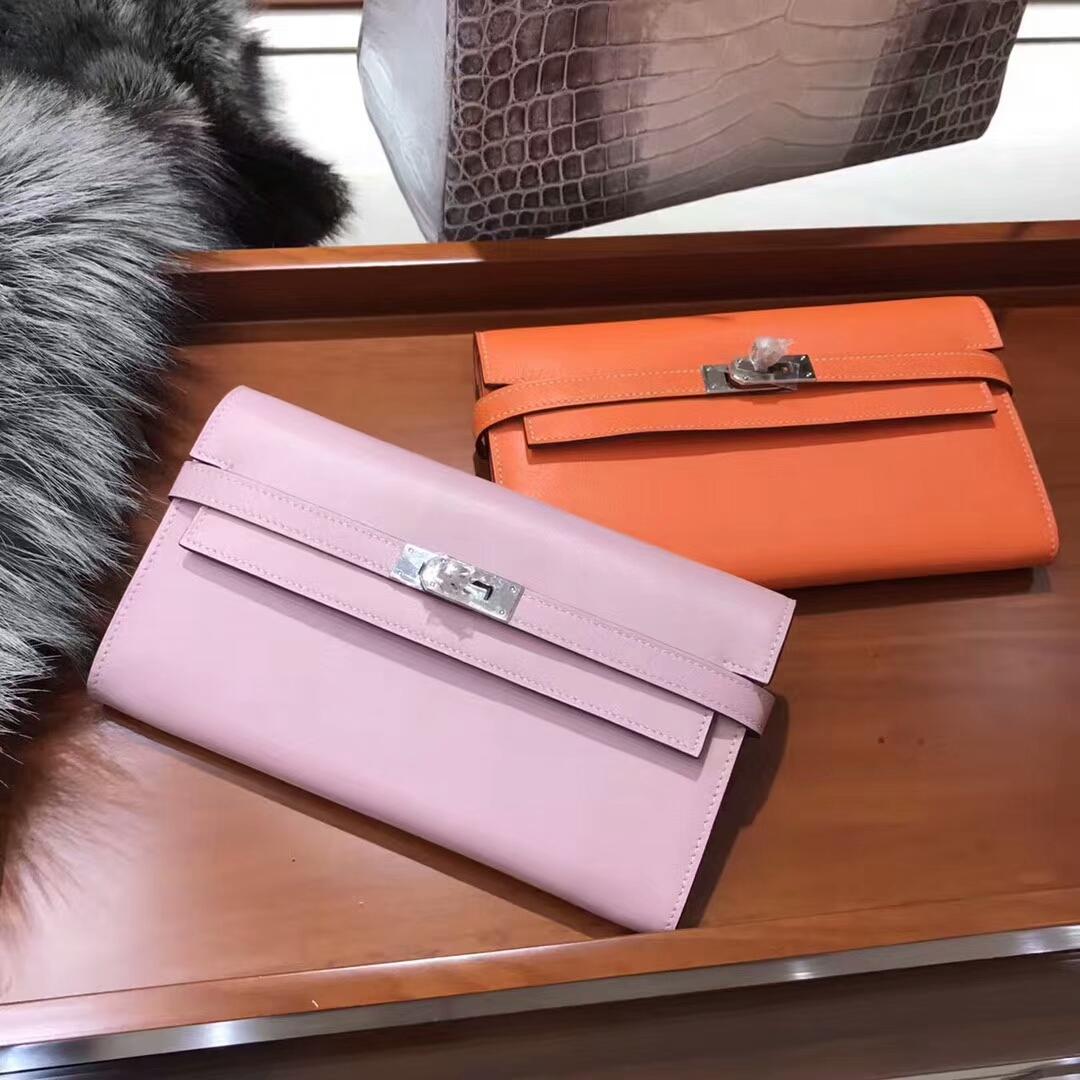 Kelly Wallet 凯莉长款钱包 5p 樱花粉/CC93 Orange 橙色 橘色 配全套专柜原版包装