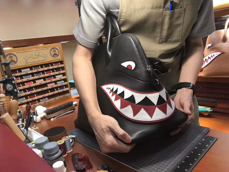 HERMES 爱马仕 鲨鱼保龄球包 配全套专柜原版包装 媲美专柜货源 BLACK 黑色