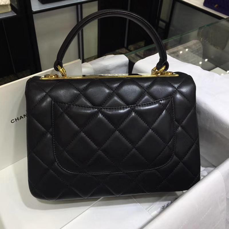Chanel 香奈儿 TrendyCC 小羊皮 黑色 25cm 金扣 现货