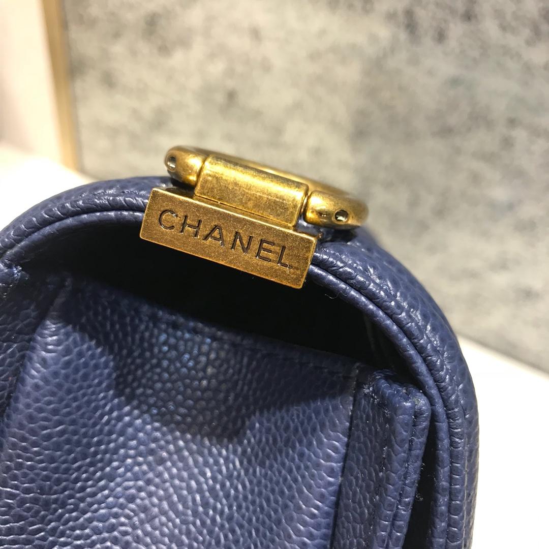 Leboy 代购版本 25cm 进口鱼子酱 海军蓝 古金扣