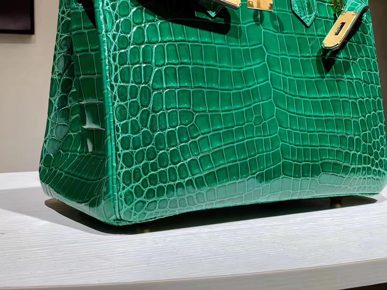 HERMES birkin 25cm 鳄鱼皮 翡翠绿 现货