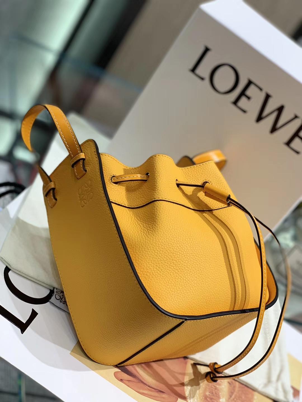 Loewe 迷你hammock 吊床包 手提包 橘黄