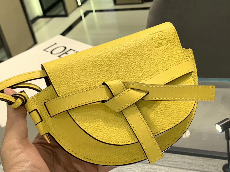 Loewe Gate系列 2019新色 斜挎小包 Mini号 黄色