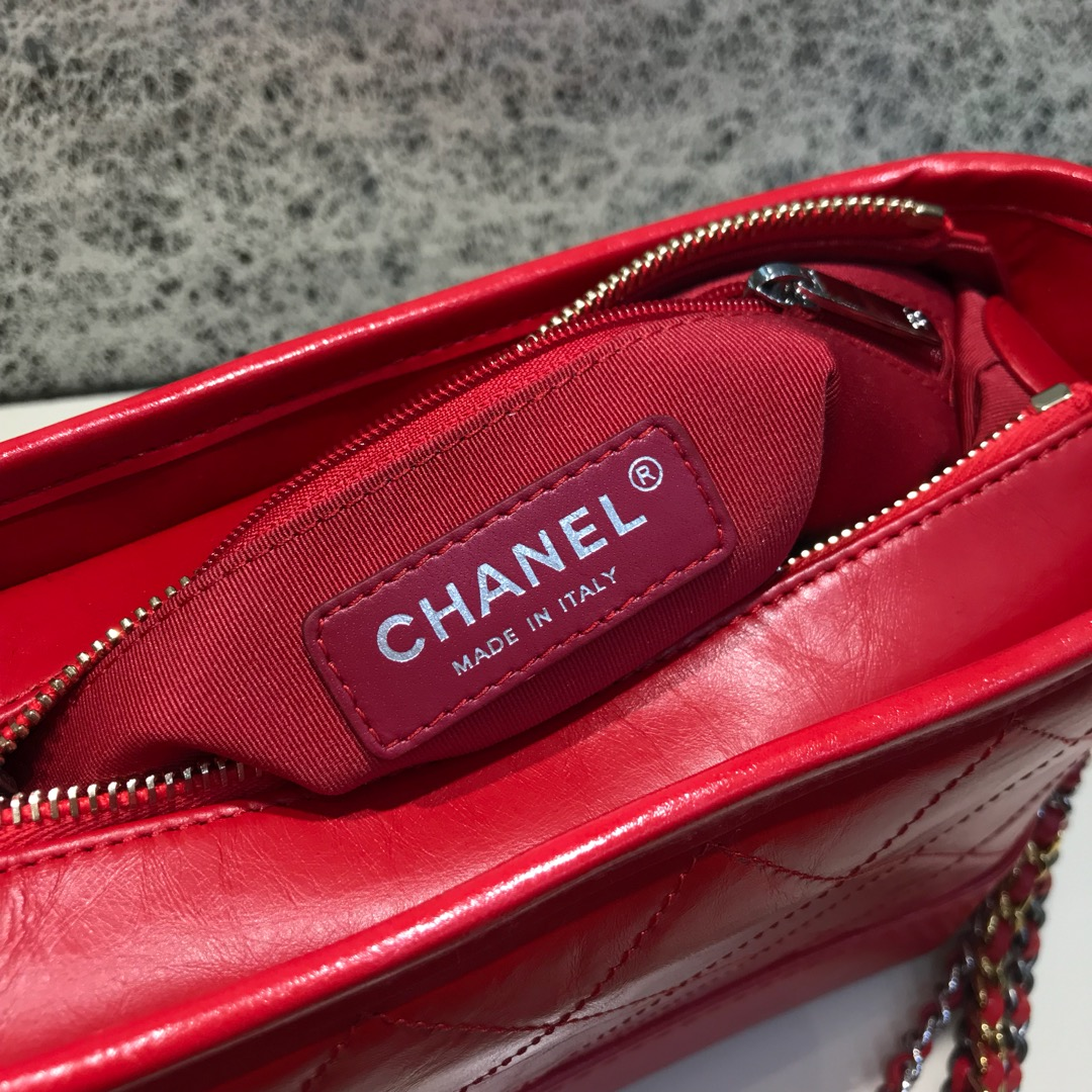 Chanel 香奈儿 Gabrielle 顶级代购版本 20cm 原厂树膏皮 红色 特殊渠道原厂皮 少量现货