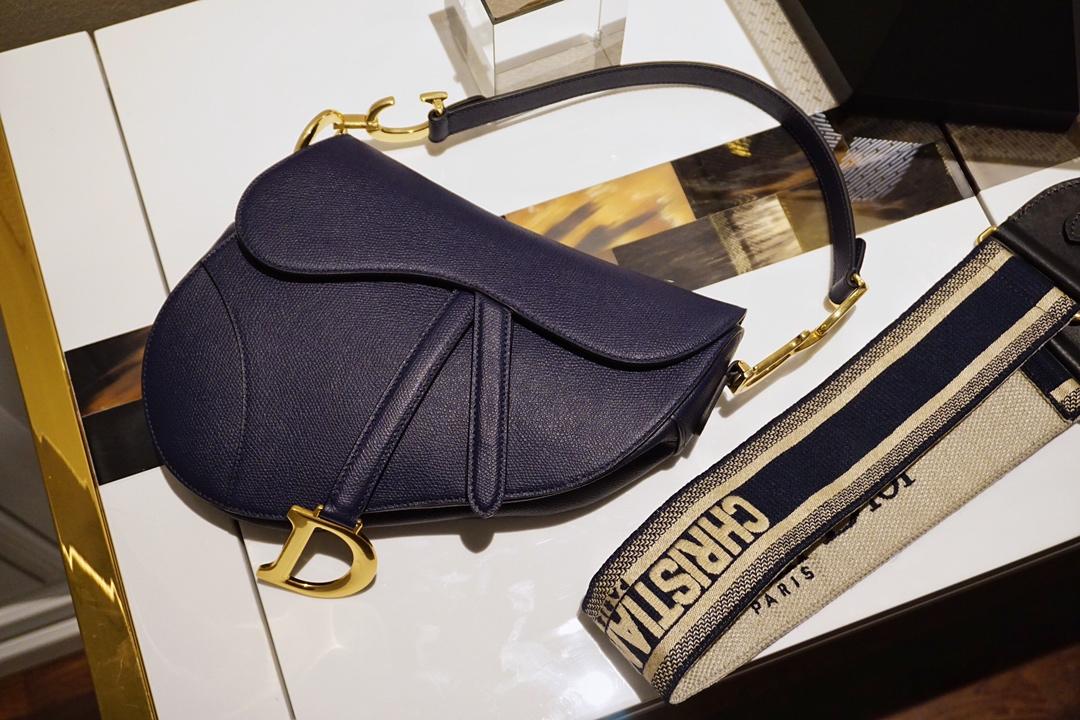 Dior 迪奥 马鞍包 原厂正品掌纹皮 自带香味
