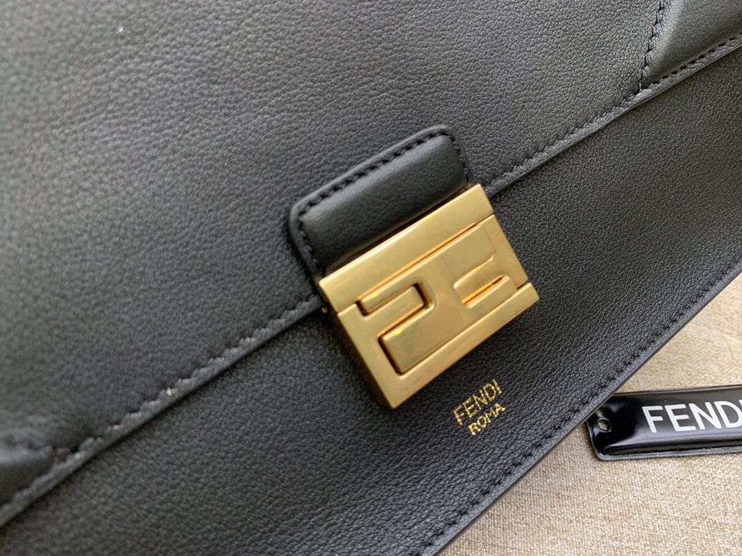 Fendi 芬迪 KAN U 系列 中号25cm 斜挎手提两用包 复古女包
