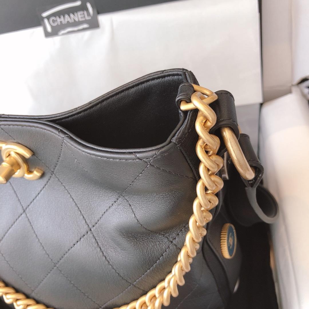 Chanel 嬉皮包 单肩斜挎包 黑色 23cm 原厂皮 现货