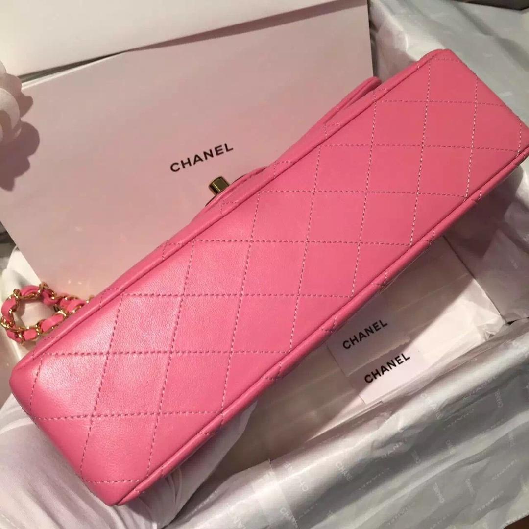 Chanel 香奈儿 Classic Flap 代购版本 25cm~进口小羊皮~桃粉色