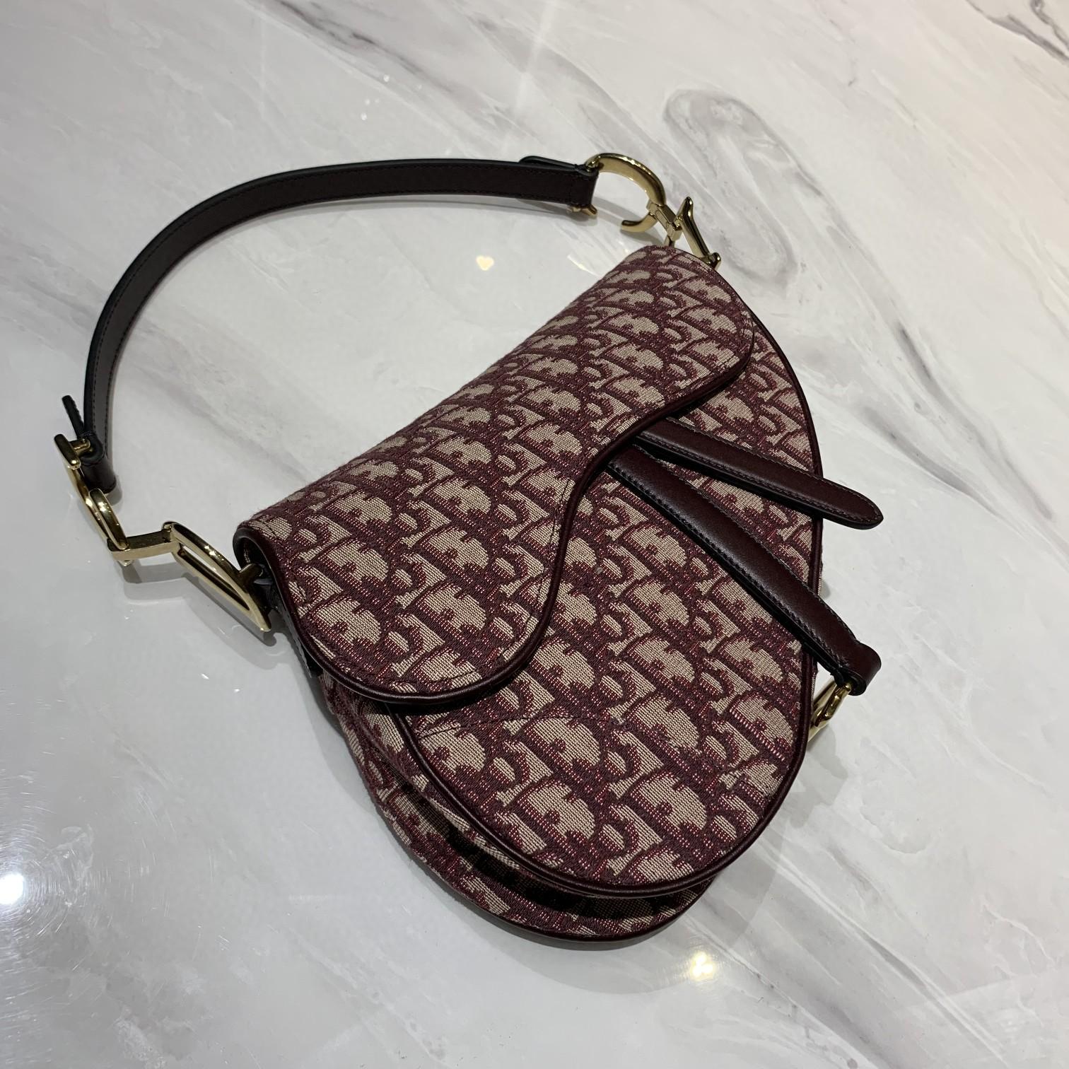 #saddle bag#红色老花马鞍包 大号25.5cm 小号19.5cm