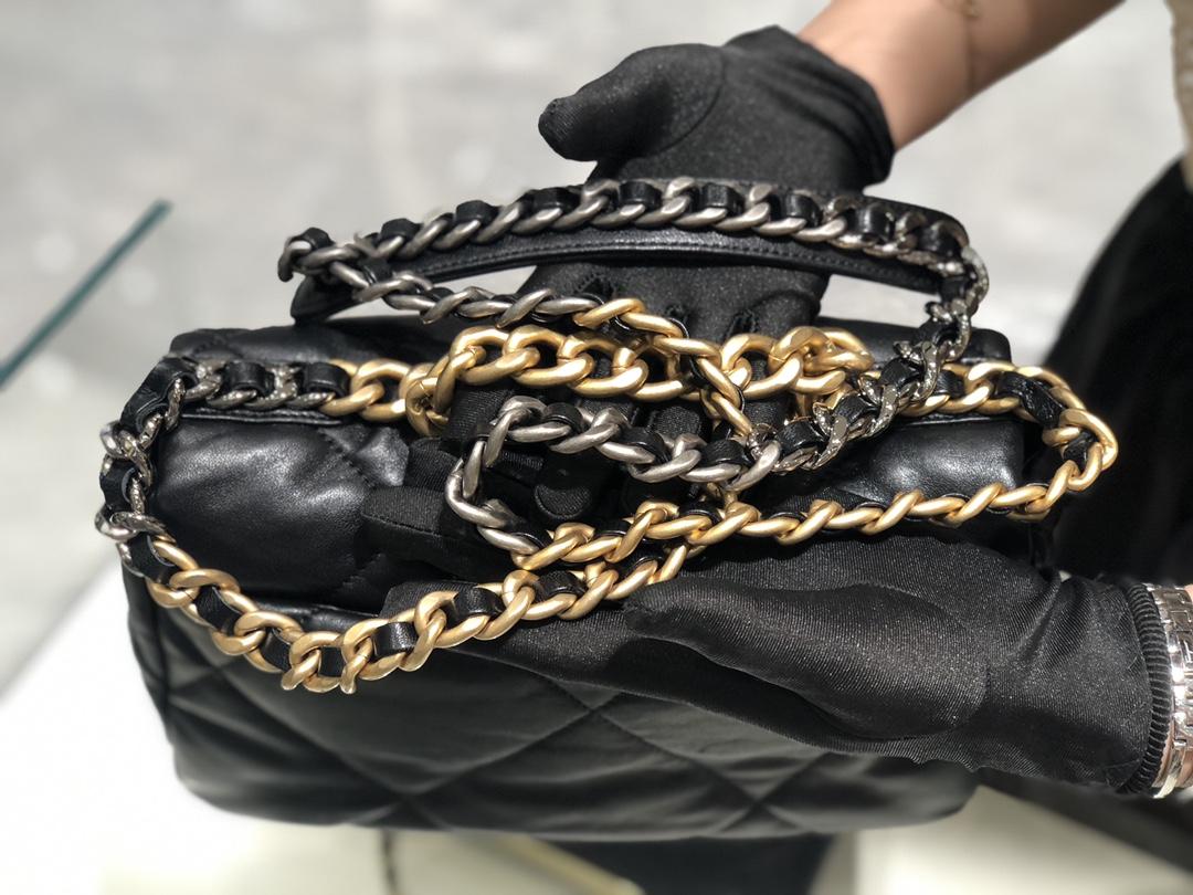 香奈儿批发 真品级  法国进口小羊皮Chanel2019秋冬新季系列 宽格纹粗链条翻盖包  16*26*9cm全套包装