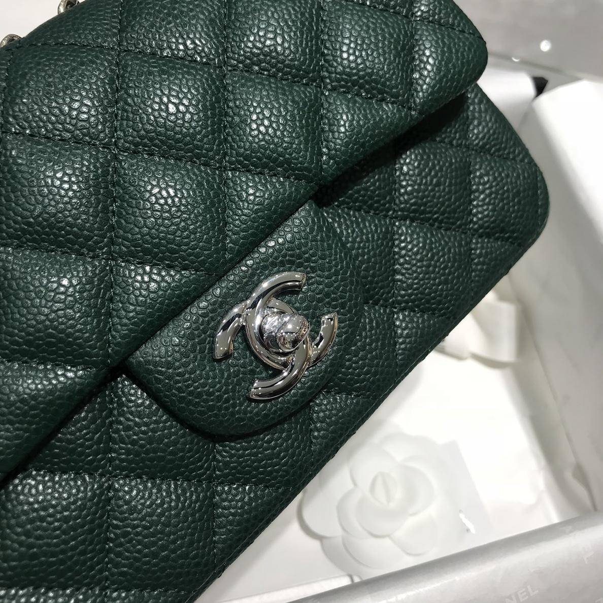 香奈儿真品级 《Chanel》CFmini~代购版本~原厂鱼子酱牛皮 20cm~现货