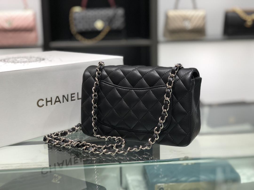 Chanel 香奈儿 Chanel Classic Flap 20cm 黑色 银扣