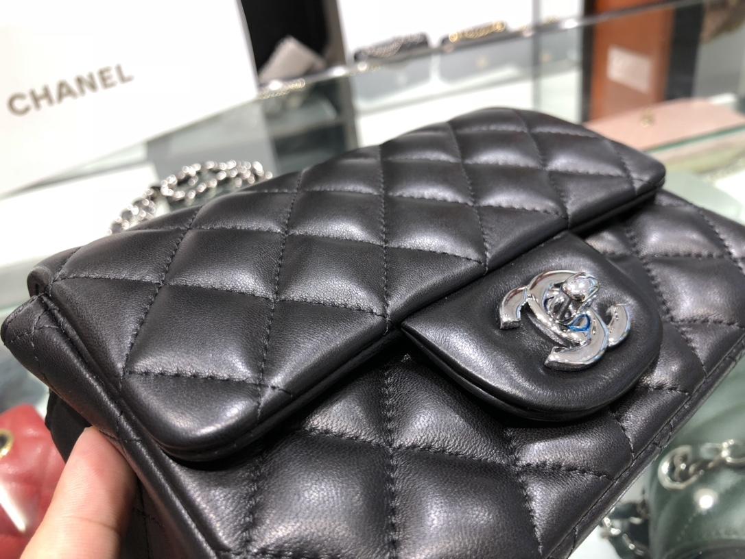 Chanel 香奈儿 Chanel Classic Flap 17cm 黑色 银扣