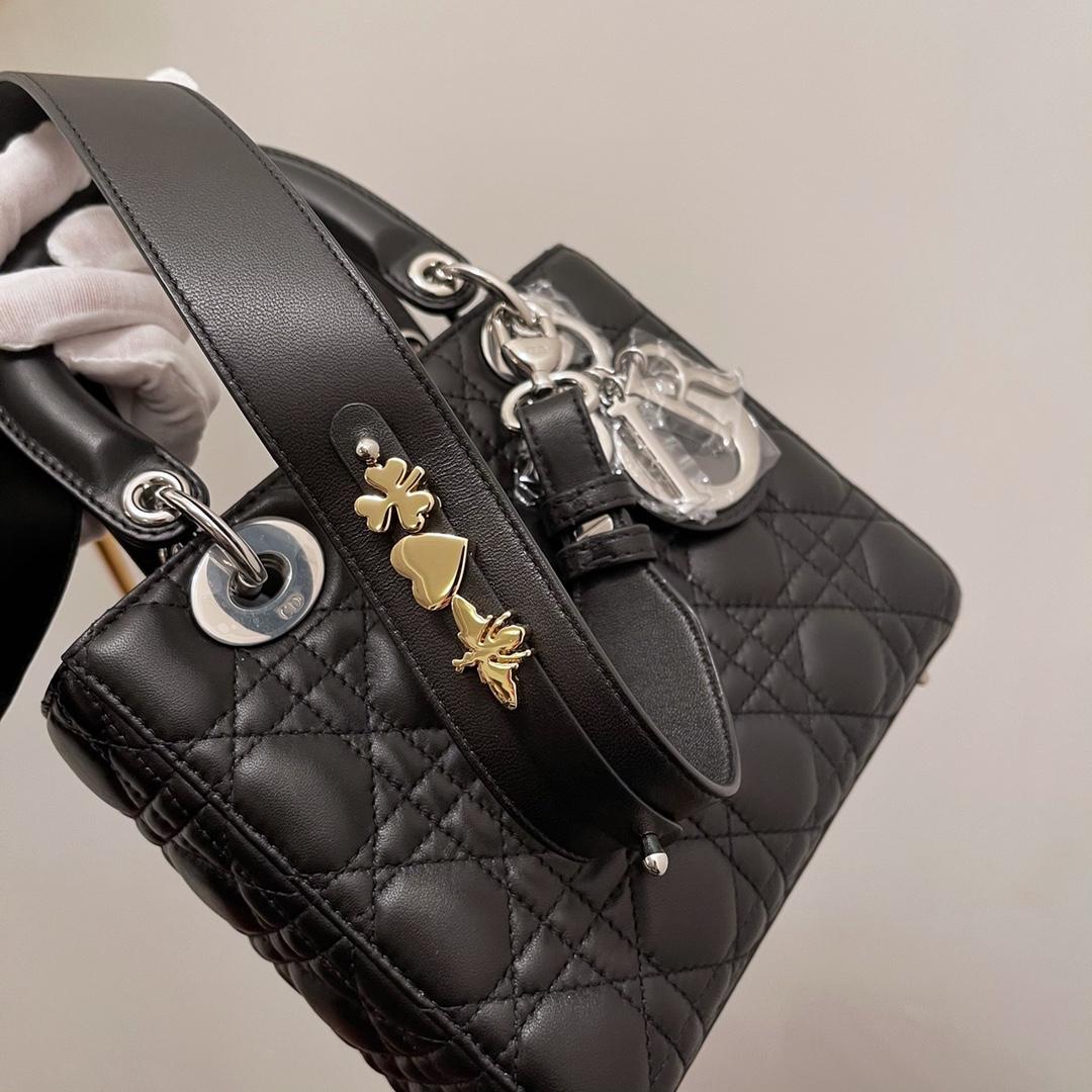 Dior 迪奥 四格 20cm 黑羊银