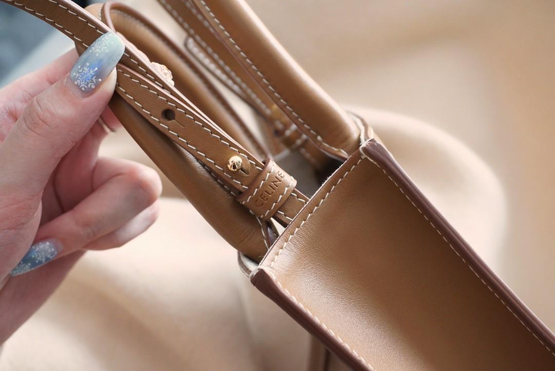 Celine 思琳 凯旋门 托特包 17cm 皮料配帆布提花 浓浓的复古味道