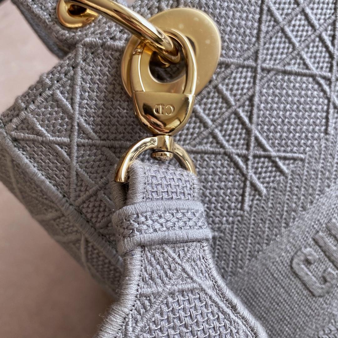 Dior 迪奥 五格/24cm 布纹灰 - 可以肩背斜挎手提