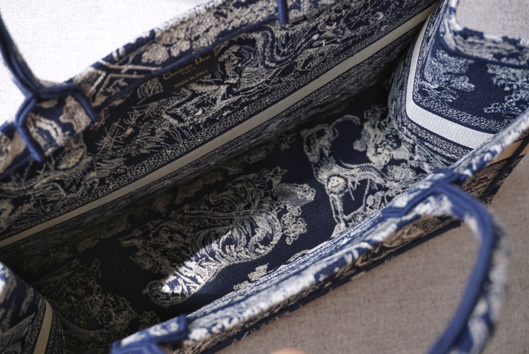 DIOR 购物袋 新蓝老虎 41.5cm 大号 可收纳各种日常用品