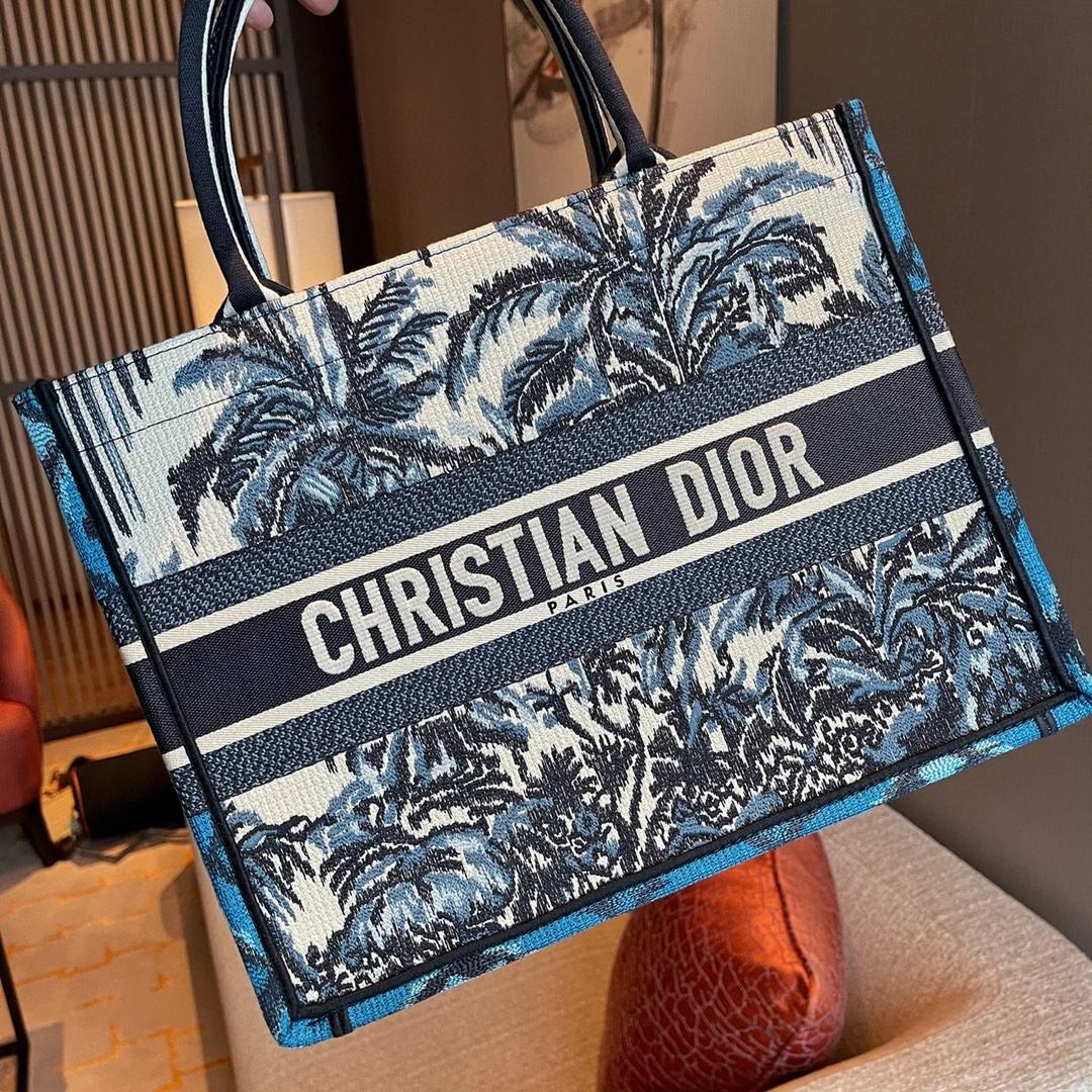 DIOR 迪奥 购物袋 椰林 小号/36.5cm 充满热带雨林风情托特包