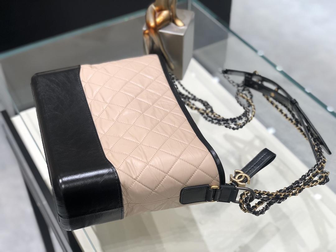 Chanel Gabrielle 流浪包杏黑色 大号 代购版本 28cm