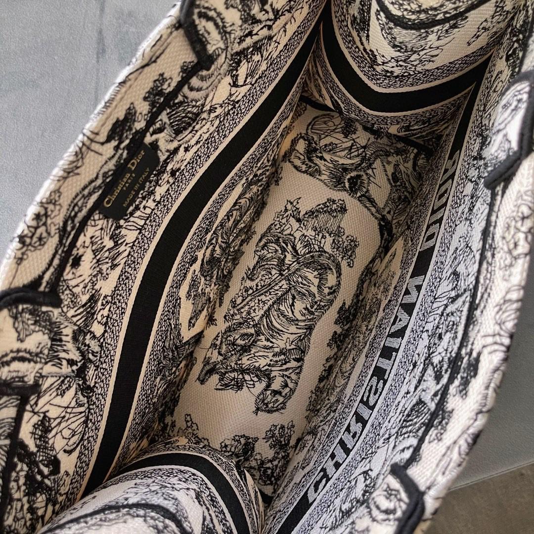 DIOR 购物袋 购物袋黑•老虎 小号/36.5cm现货