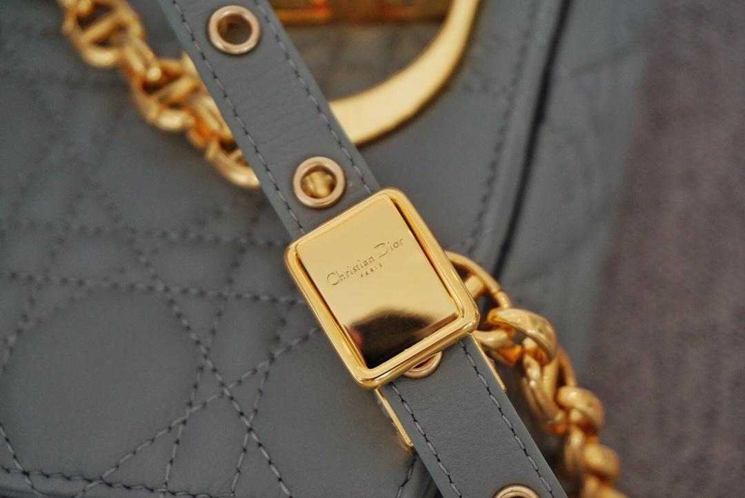 Dior 迪奥 Caro 小号/20cm 灰色 诠释浪漫优雅格调