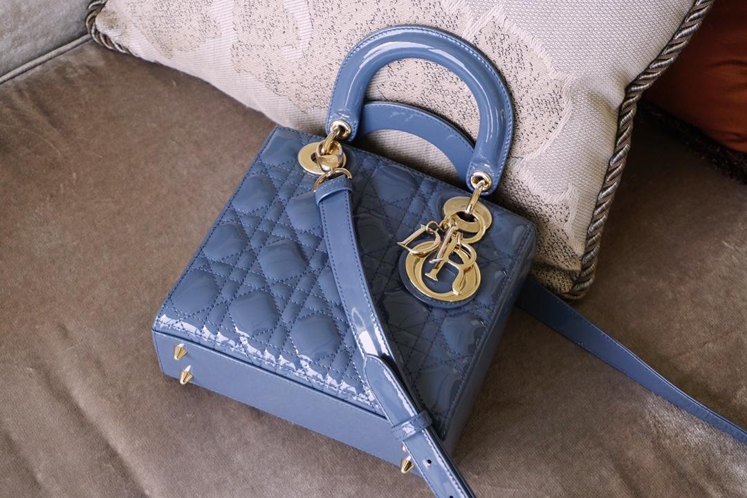 Dior 迪奥 戴妃包 Lady Dior 四格 雾霾蓝 高级耐看