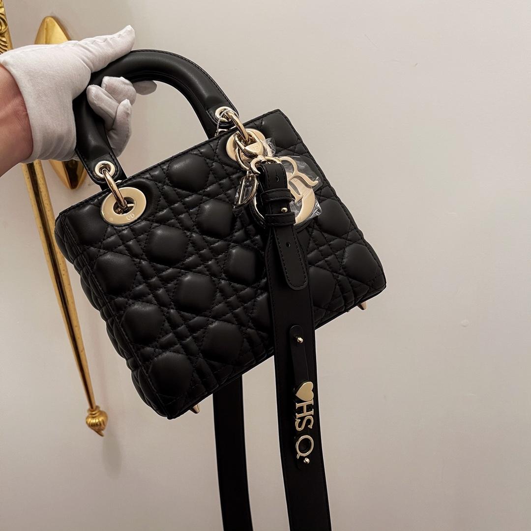 Dior 迪奥 四格 20cm 黑羊金