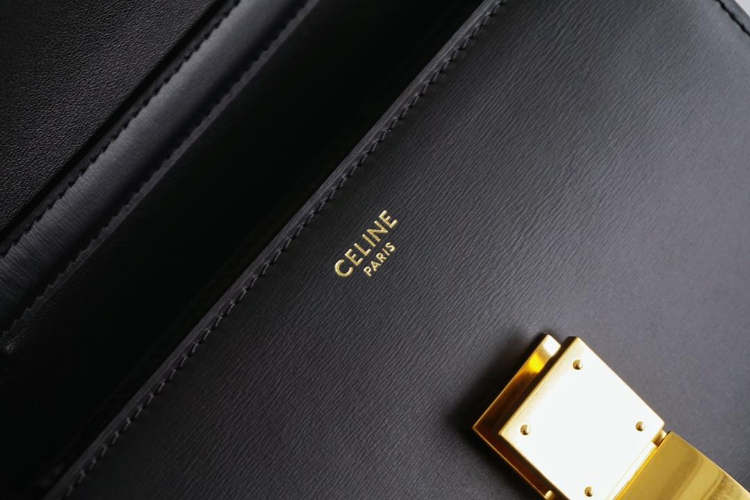 Celine 思琳 Box Teen size 18.5cm 牛皮 黑色 极简经典